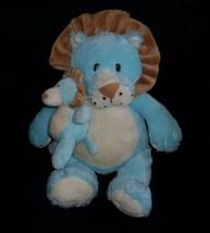 "14"" Ganz Luvems Lion Mom W/ Baby Blue Rattle Stuffed Animal Plush Toy Soft Cl EAN - $18.70"