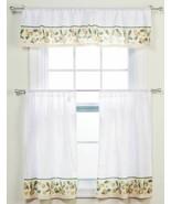"""3 Pc. Curtains Set: 2 Tiers (28.5""""x 36"""") & Valance (58""""x 13"""") FRUITS, LE... - $24.74"""
