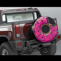CENSIHER Donut Pattern Spare Tire Cover Polyester Waterproof Universal Spare Whe image 2