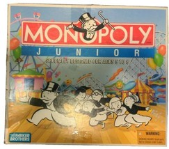 1990 Monopoly Junior Game by Parker Brothers Complete In Good Cond FREE SHIP - $29.40