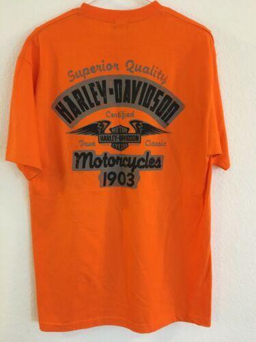 Harley-Davidson HD Men's Size L Orange T Shirt NEW NWT Phoenix Az Buddy Stubbs image 4