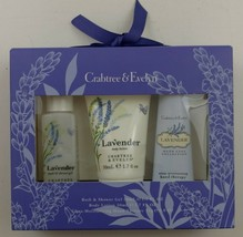 Crabtree & Evelyn Lavender Travel Gift Set Bath Shower Gel Lotion Hand T... - $24.99