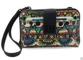 NWT Sakroots Smartphone Wristlet Wallet Crossbody Radiant One World SHIP... - $34.95