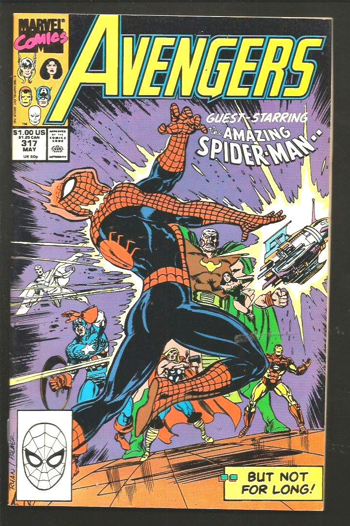 AVENGERS #317 John Byrne Tom Palmer Very Fine+/NM- 1990 Marvel Comics 1st Series