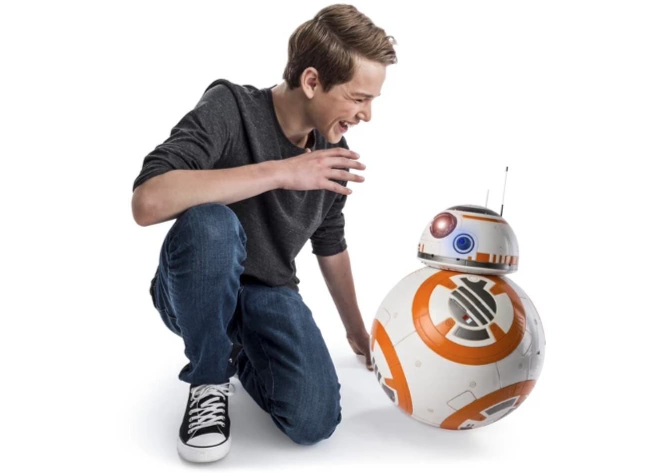 "Disney Star Wars BB-8 Interactive Droid Talking Moving 9.5"" Robot Force Awakens"