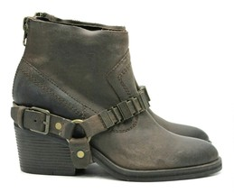 DOLCE VITA Teyla Leather Buckle Boot in Expresso - Size 6 NEW  - $93.49