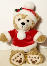 "Disney Duffy Santa Mickey Brown Disneyland 12"" Stuffed Plush - $9.89"