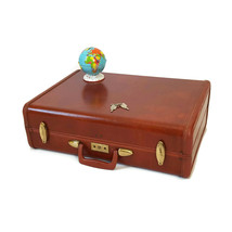 Vintage Samsonite Brown Suitcase 1950s Luggage Burlesque Case Valise - $123.75
