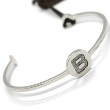REBECCA BRONZE BRACELET, BANGLE RIGID, LETTER B, INITIAL, BWGBBS69 MADE IN ITALY image 1