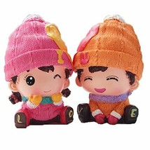 PANDA SUPERSTORE A Pair of Dolls Coin Holder Piggy Bank Great Gift for Kids