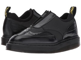 Doc Martens Black RESNIK Leather Neoprene Zip Front Brogue Wingtip Shoes... - $109.99