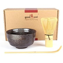 Japanese Matcha Tea Ceremony Set - Ceramic Bowl with Bamboo Whisk and Scoop - $47.51