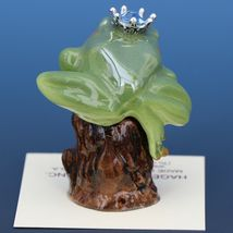 Birthstone Tree Frog Prince March Aquamarine Miniatures by Hagen-Renaker image 3