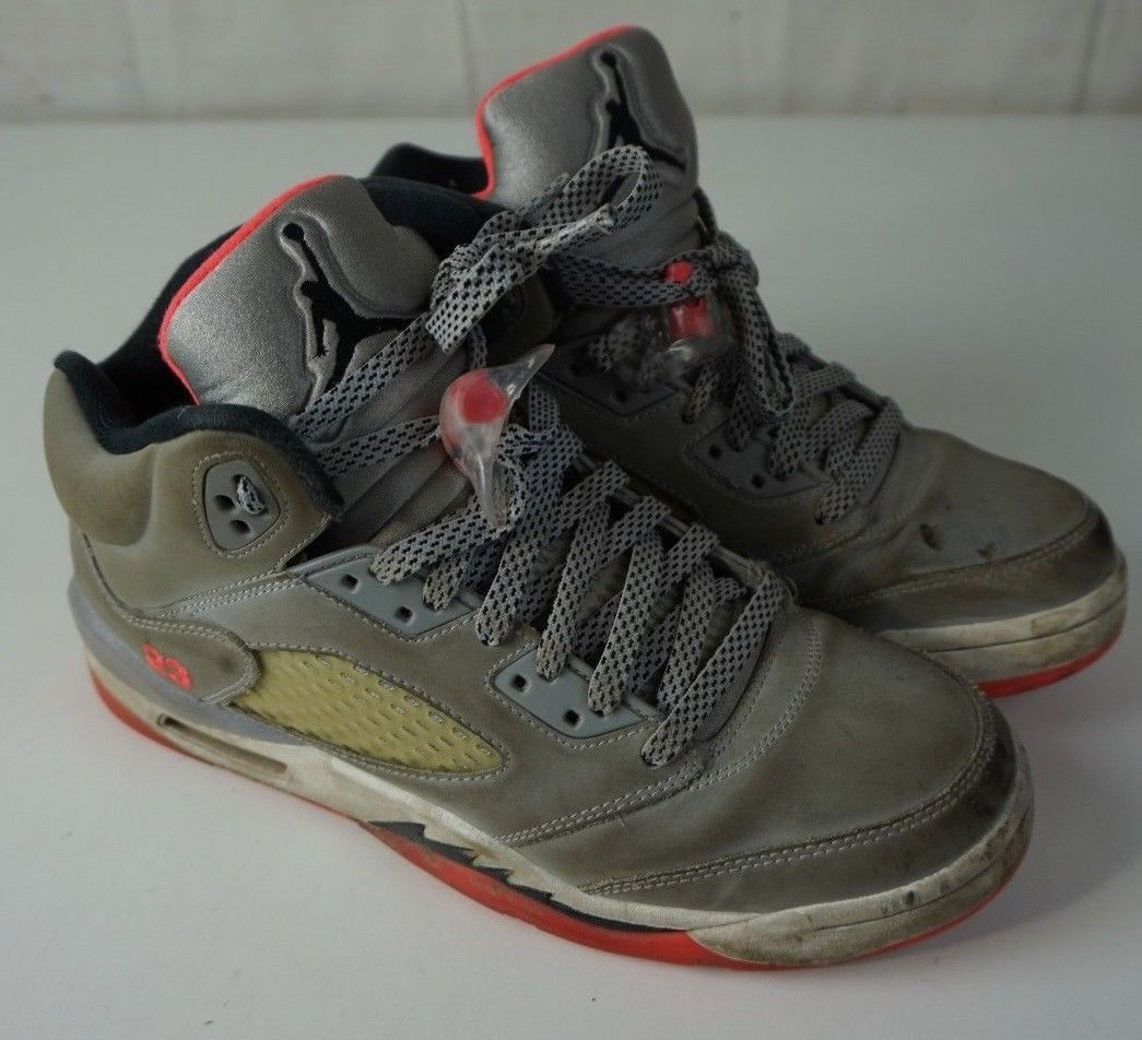 04f0e8c88bc2 Nike Air Jordan V 5 Retro GG Hot Lava Red Cool Grey Black SZ 8.5Y