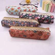 Pen Pencil Case Makeup Cosmetic Bag Floral Flower Pouch Lace Canvas Dot ... - $4.59+