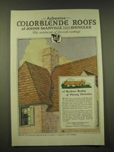 1918 Johns-Manville Asbestos Color-Blende Shingles Ad - $14.99