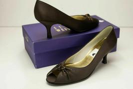 Stuart Weitzman 8 Narrow Brown Peep Toe Pumps Women's Shoes - $86.00