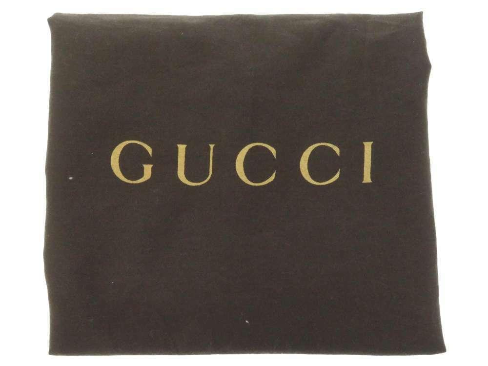 GUCCI Diamente Leather Black Shoulder Bag 354229 One shoulder Italy Authentic image 12