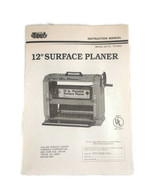 """12"""" Surface Planer Collins Tool Instruction Manual Model 50776 - $23.34"""