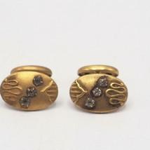 Antique Gold & Gemstone Cufflink Set - $44.54
