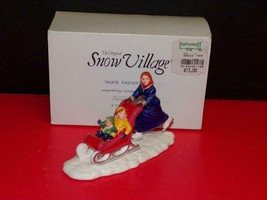 "Department 56 Snow Village People ""Skate Faster...Mom!"" #5170-5 NEW IN BOX - $16.34"