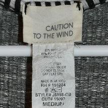 Caution to the Wind Black White Pinstripe Tie Back Surplice V-Neck Romper Size M image 3