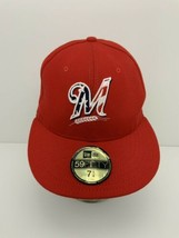 Milwaukee Brewers Hat Stars and Stripes Logo Official On Field Made in U... - $48.96