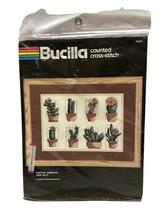 "Bucilla Counted Cross Stitch Cactus Sampler Sz 9""x12"" Brooke Morrison 40287 - $18.69"