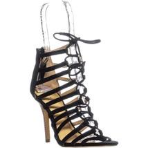 Coach Salvadora Lace Up Heels, Black, 6 US - $61.43