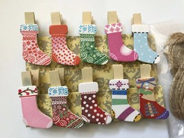 120pcs Christmas Stocking Wooden Clip,Photo Paper Pegs,Christmas Ornaments - $18.00