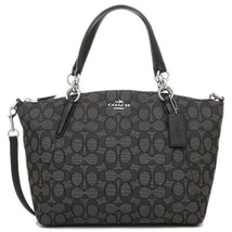 COACH SMALL KELSEY SATCHEL IN OUTLINE SIGNATURE BLACK F58283 - $115.00