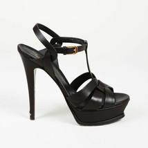 """Yves Saint Laurent Leather """"Tribute"""" Platform Sandals SZ 38.5 - $305.00"""