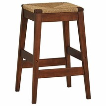 """Stone & Beam Seagrass-Woven Barstool, 30""""H, Brown"""