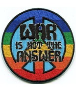 War is not Answer retro 60s 70s peace sign embroidered applique iron-on patch - £7.42 GBP