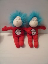 Dr Seuss Thing 1 One Thing 2 Two Stuffed Plush Cat In The Hat Toys - $25.00