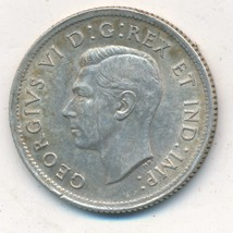 1937 SILVER CANADA 25 CENTS-VERY NICE LIGHTLY CIRCULATED COIN-SHIPS FREE!  - $11.95