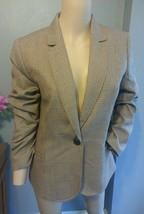 J Crew Houndstooth Wool Preppy Crest Button Blazer Jacket 10 - $75.99