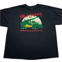 Vtg 90s Single Stitch New Orleans Funny Alligator Send More Tourists XXL T-Shirt - £21.22 GBP