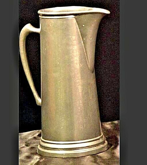 Vintage tall metal water pitcher AA19-1406