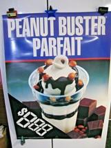 "Vintage 1998 Dairy Queen P EAN Ut Buster Parfait Poster 31"" X 44"" Ice Cream Sundae - $29.95"