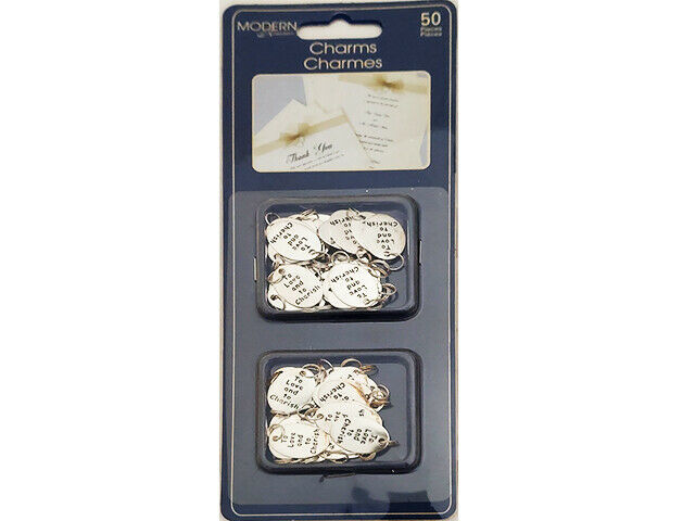 Modern Romance Wedding Charms with Jump Rings, 50 Count #22243-01