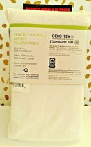 KING Size Tencel Jersey Blend Pillowcase Set WHITE Project 62+ Nate Berkus NEW image 2