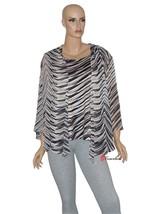JM Collection Women's Top Blouse 2-Piece Brown Black White Polyester $59.50 - $29.75