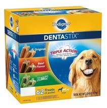 Pedigree DentaStix Dog Treats, Variety Pack 3.34 lbs., 62 ct - $28.99