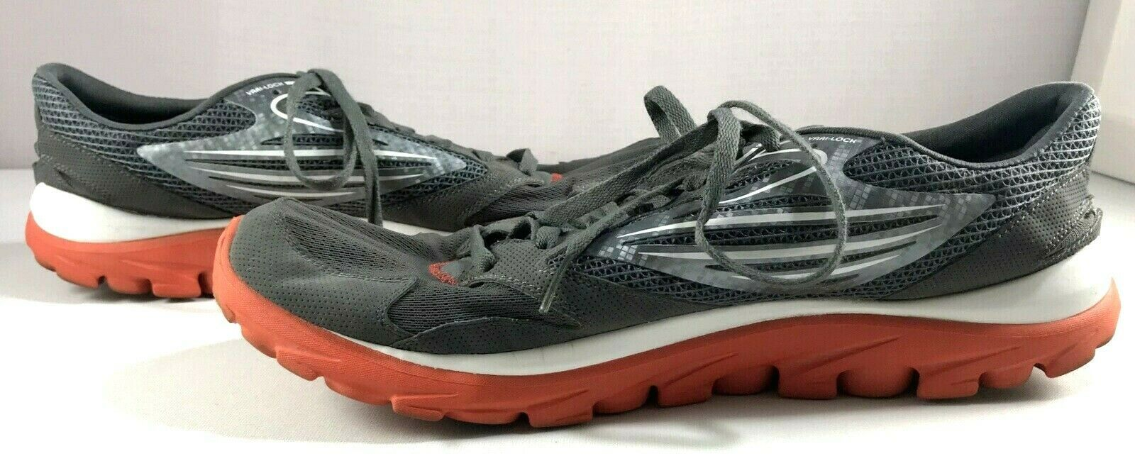 Skechers Go Run Shoes Mens Size 13 Dark Gray Lace Up Sneakers
