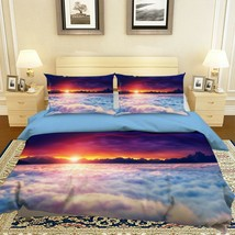 3D Evening Scenery White Cloud KEP9263 Bed Pillowcases Quilt Duvet Cover... - $71.17+
