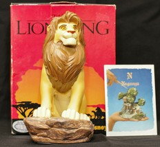 New Extremely Rare! Walt Disney The Lion King Simba Hand Painted Figurine Statue - $150.00