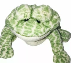 "Webkinz Spotted Frog Plush HM142 Ganz Green Cream No Code 8"" - $10.88"