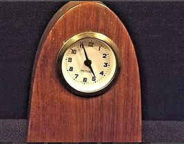 Mercedes Mantle Wooden Clock AB 125 Vintage image 1