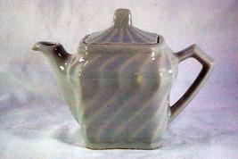 Made In USA  1960's Gray & Green Swirl 1 Cup Tea Pot - $5.54